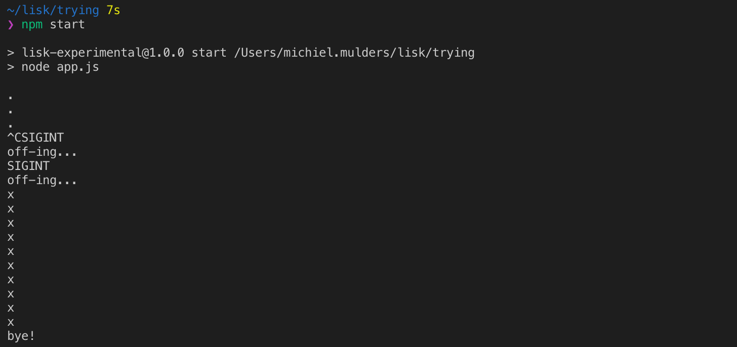 Step 3. Run the snippet with npm start